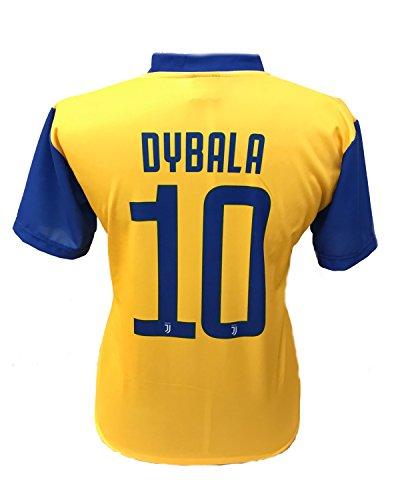 Camiseta Jersey Futbol Segundo Amarillo Juventus Paulo Dybala 10 Replica  Autorizado 2017-2018 Niños Adultos 56c12dd186f14