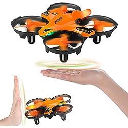 HELIFAR H803 Mini Drone, Drone Control Remoto con función de prevención de Infrarrojos, Control fácil de Gestos, retención de altitud, RC Drone para niños, Adultos, Dos baterías
