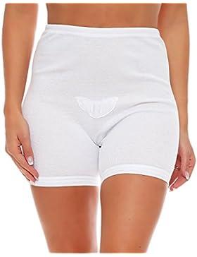 3 Paquete mujeres de la cintura con las piernas y los escritos de encaje de algodón (bragas, calzoncillos) No....