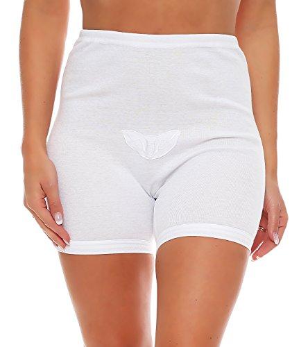 3er Pack Damen Taillen-Slips mit Bein und Baumwollspitze (Schlüpfer, Slip, Unterhose) Nr. 407/187
