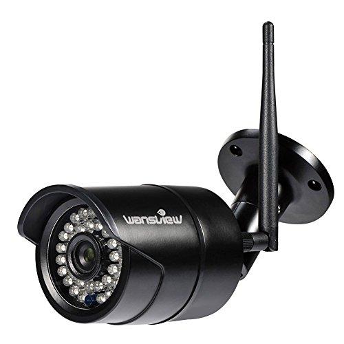 Wansview Caméra IP Surveillance 720P, Caméra IP Extérieur Wifi Caméra Sécurité IP66 étanche avec Vision Nocturne W3 - Noir