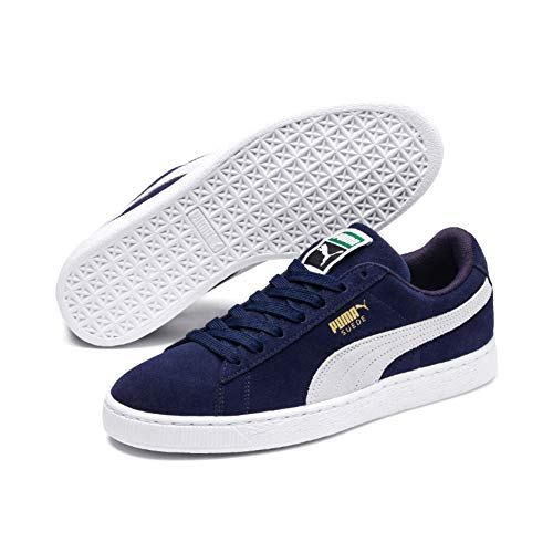 7d1ea5128ddea Puma - Suede Classic - Baskets Mode - Mixte Adulte - Bleu (Peacoat White