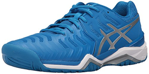 Asics - Herren Gel-Resolution 7 Schuhe, 49 EU, Director Blue/Silver/White