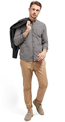 Tom Tailor für Männer Shirt / Blouse kariertes Hemd mit Brusttasche Black