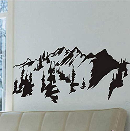 Wandsticker selbstklebende Wandsticker wasserdichte Wandsticker Wandsticker, Stil Berge Bäume Wandkunst Aufkleber Aufkleber, Abnehmbare traditionelle chinesische Malerei Vinyl -