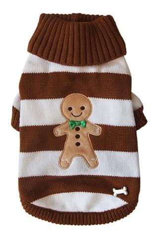 PetLondon PetLondon Christmas Knit Gingerbread Sweater, Large, 12-inch