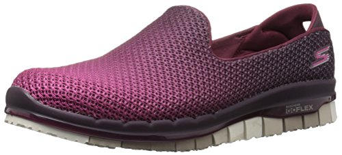 Skechers Damen Slipper Go Flex Lotus Bordeaux, Schuhgröße:EUR 37.5