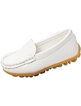 Qitun Zapatillas Niñas Planas Mocasines, Todos Estaciónes Zapatos Cómodos Casuales Para Escolares