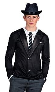 Boland 84208 - Camisa Vintage fotorrealista, XL, negro