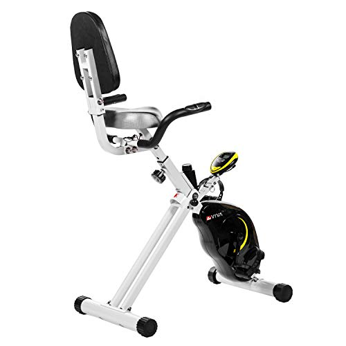 AsVIVA Ergometer Heimtrainer H16 Cardio Sport X-Bike mit 7kg Schwungmasse, Magnetbremse, stufenloser Widerstandseinstellung, inkl. Computer + Handpulsmessung, kompakt klappbar