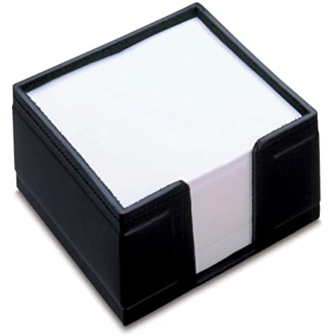 Läufer Ambiente Monza 34126 - Porta post-it con blocchetto incluso, 10 x 10 x 5 cm, colore: Nero
