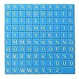 Alphbet lettera piastrelle blu con lettere bianche Art & CRAFT gioco di Londra Heritage