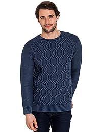 WoolOvers Pull épais à col rond et détail torsadé - Homme - 100 % coton