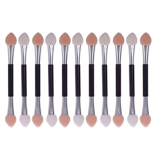 41l85oYEinL - JaneDream 12 X Double-end Eye Shadow Eyeliner Brush Makeup Applicator Kit for Girls