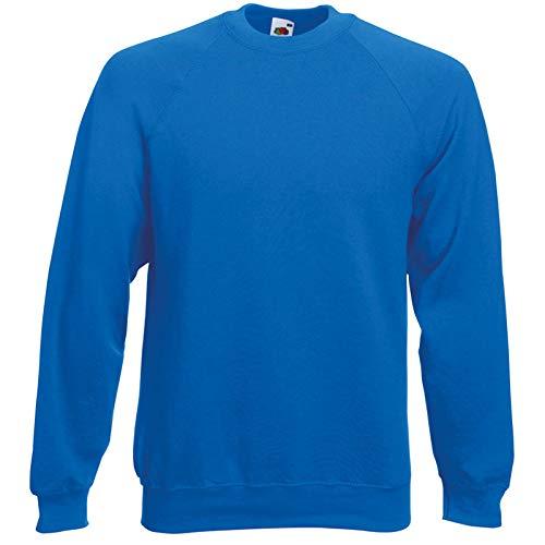 Fruit of the Loom Herren, Sweatshirt, Raglan Sweatshirt XXL,Blau - Royal Raglan Sweatshirt
