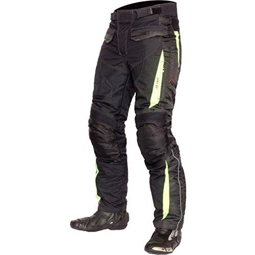Motorrad-chaps Frauen (Lookwell heimsuchen Textil Motorrad Reiten Hose, schwarz/gelb, Größe S)