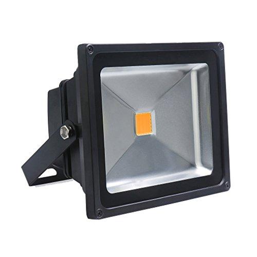 Auralum® Projektor, 30W, IP65,Licht: Warmweiß, 2800–3200K, 2700 Lumen