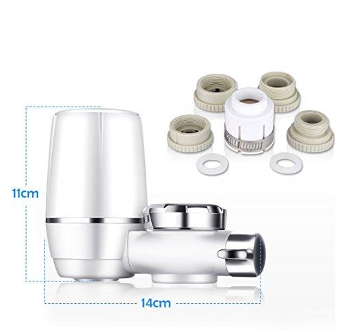 Wasserhahn Wasserfilter, EgoEra® 8 Schicht Leitungswasser Filter / Wasseraufbereiter Trinkwasser / Wasserfilter Wasserreiniger für die Küche mit Keramischen Filterpatrone - 5