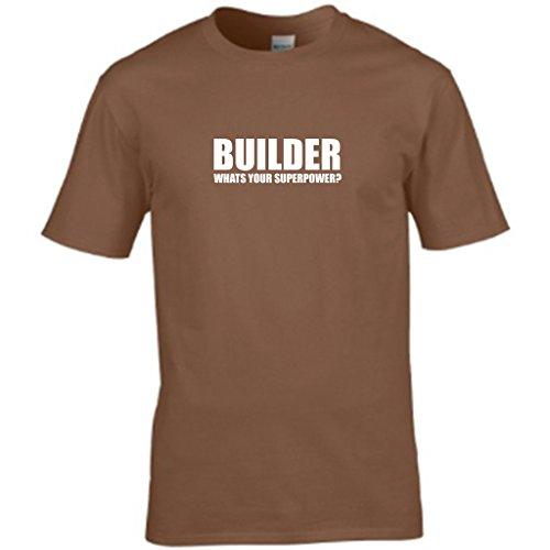 NEW ORDER WORLD-Gegner der Menschheit Herren t shirt Braun - Braun