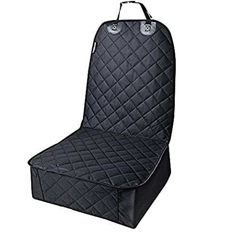 Pingxia Waterproof Nonslip Pet Front Seat Cover Seat Protector Dog Seat Cover Pet Booster Seat for All Cars,Trucks and SUVs - Black