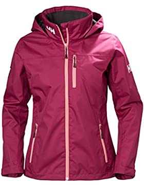 Helly Hansen W Crew para mujer impermeable aislante chaqueta, mujer, color ciruela, tamaño Large