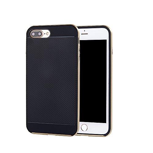 Case für Apple iPhone 7 4.7 Zoll Schutzcover aufstellbares Mobiltelefon Hardcase (Silber) Gold