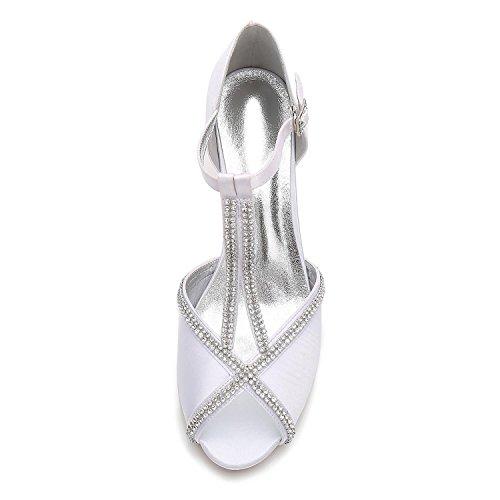 L@YC Chaussures de Mariage Pour Femmes E17061-11 Boucle Diamant Couture Peep Toe DÉté Mariée Nuptiale black
