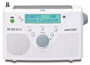 roberts dab fm digital solar radio white tv. Black Bedroom Furniture Sets. Home Design Ideas