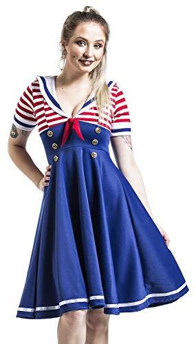 Belsira Swing-Kleid im Marinelook Mittellanges Kleid blau/rot/weiß - Blau Weiß Kleid Kostüm