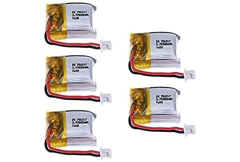 5 Batteries 3.7V 100mAh pour Cheerson CX-10 CX-10A CX-10C / Wltoys V646 V676 V272 / H1 / JD395