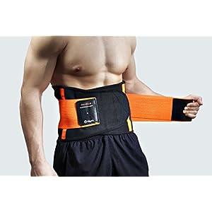 Premium Rückenbandage by Vita Fit: Rückenstützgürtel für Frauen und Männer zur schmerzbefreiten Ausübung von Freizeit und Arbeits Aktivitäten. Individuell Einstellbare Kompression