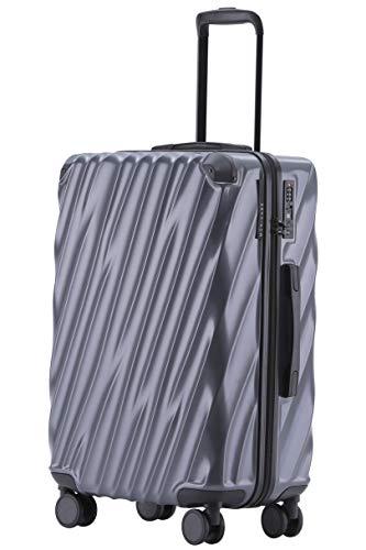 Münicase MÜNICASE TSA Schloß Handgepäck Trolley Koffer-Set Reisekoffer (Businessgrau, XL-76cm)