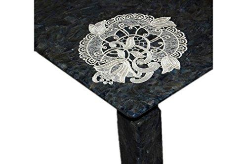 Tischdecke Plauener Spitze Creme Ätzspitze Spitzendeckchen Blüte (28 cm Durchmesser rund)