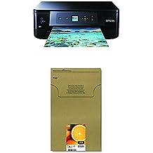 Epson Expression Premium XP-540 3-in-1 Tintenstrahl-Multifunktionsgerät, schwarz + Original T3337 Claria Premium Tinte (CYMK + Photo-schwarz) + passende Druckerpatrone