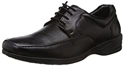Hush Puppies Mens Jungle-Ii Black Leather Formal Shoes - 7 UK/India (41 EU)(8246782)