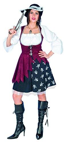 Piratin Jenna Kostüm mit Totenköpfen Gr. 40 42