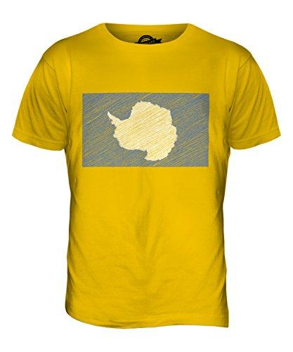 CandyMix Antarktika Kritzelte Flagge Herren T Shirt Dunkelgelb