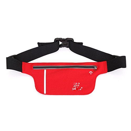 GXYLLDS Deporte Bolsa Casual Cintura Cintura Bestiame Cintura Diseño Traspirabile Malla Impermeabile Auricolare Perro Caminar Y Andar En Bicicleta Red