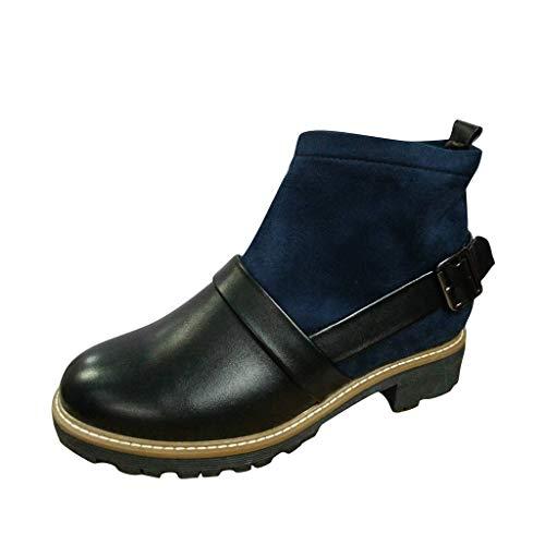 Kurze Stiefel Damen Mode Socke Leder Boots Schnalle Ankle Booties Dicker Absatz Stiefeletten Britische Stil Outdoor Stiefeletten ABsoar -