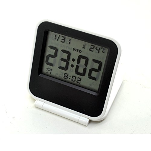 Smart electronic – Despertador de viaje digital multifunción bolsillo Mini tamaño pequeño portátil plegable reloj despertador