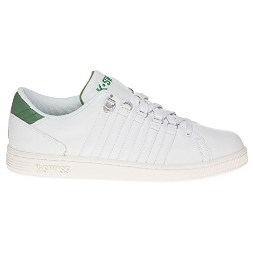 K-Swiss  LOZAN III~WHITE/JUNIPER/CLOUD DANCER~M, basket hommes Blanc - Blanc