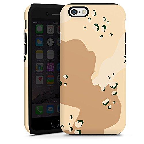 Apple iPhone 5 Housse Étui Silicone Coque Protection Camouflage Sable Armée Cas Tough terne