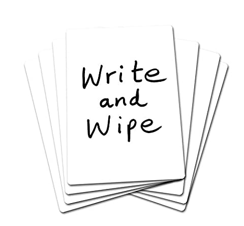 SG Education SG Plain A430 Write and Wipe Plain Board, A4 Size (Pack of 30)