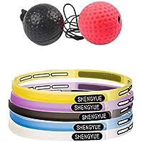 Premium Fightball, Profi Fight-Ball-Reflex Kampfball Mit Stirnband Für Boxentraining Trainingsgerät Für Leistungssteigerung Im Boxen, Zuhause Draußen Oder Im Studio Verwendbar