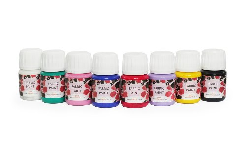 silkcraft-set-of-8-fabric-paints-x-30ml-bottles-high-quality