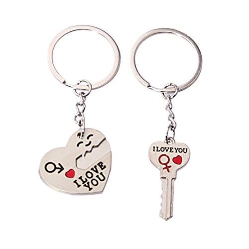 Preisvergleich Produktbild Super UD ein Set von 2Paare Schlüsselanhänger für Liebhaber Valentinstag Geschenk