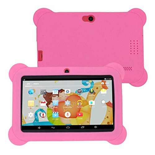 "Kinder Tablet PC 7 ""Android 4.4 Fall Bundle Dual-Kamera 1.2Ghz Wi-Fi Bonus Artikel (Pink)"