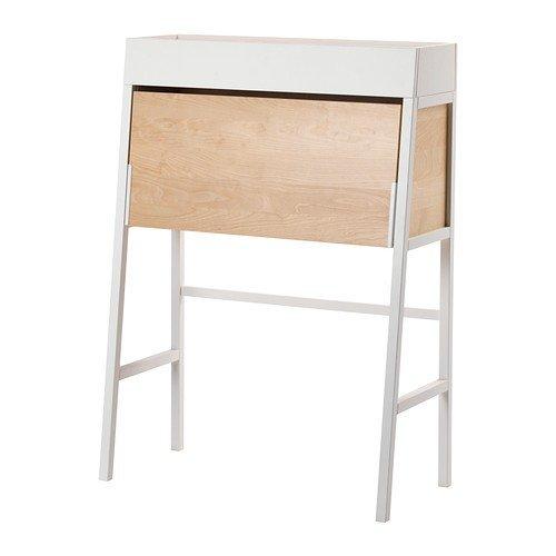 Ikea PS 2014 Sekretär in weiß; aus Birkenfurnier; (90x127cm) - Weiß Birkenfurnier