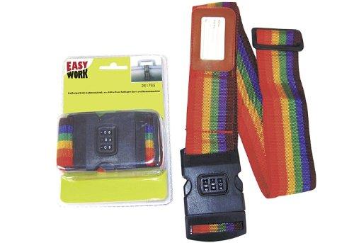 Easy Work - Cinghia per bagagli con lucchetto a combinazione