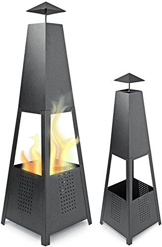 Canasta de metal patio fuego fuego pirámide 100 cm